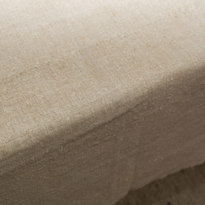 Natural linen and hemp oblong tablecloth beige