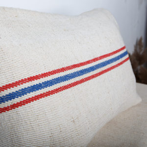 vintage-grain-sack-pillowcase-with-blue-lines-bedroom
