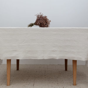 Vintage hemp and linen table cloth